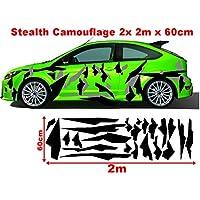 Design 4 - matt - Felgebettaufkleber Camouflage Redwood OneWheel Felgenrandaufkleber Motorrad 4er Komplett-Set schwarz-wei/ß-rot 17 Zoll