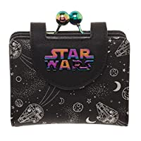 Bioworld Star Wars Solo Millennium Falcon Iridescent Kisslock Wallet