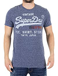 Superdry Shop Surf, T-Shirt Homme, Charbon, Small