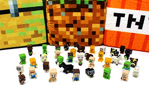 Spainbox Pack 36 Minifiguras Muñecos Juguetes Pixel - Incluye Zombies  Creepers  Ovejas  Gatos  Caballos  Vacas  Steve  Slenderman y Muchos más