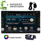 Eincar Android 6.0 Car Radio Stereo 2 Din Autoradio Lecteur DVD de voiture CD avec satellite GPS support WiFi intégré Navi, MirrorLink, FM AM RDS, SWC, SD USB, OBD (Venez avec une caméra de sauvegarde gratuit)