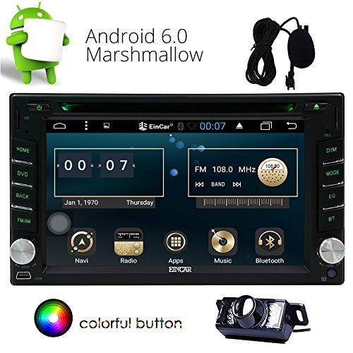 Eincar Android 6.0 Autoradio-Stereo 2 Din Head Unit Auto-DVD-CD-Player mit Eingebautes Wifi Unterstützung GPS Sat Navi, Mirrorlink, FM AM RDS, SWC, USB SD, OBD (mit einer freien Backup-Kamera)