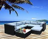 Hansson Polyrattan Lounge Sitzgruppe Gartenmöbel Garnitur Poly Rattan 5 Sitzplätze