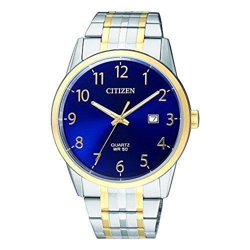 Citizen Herren Analog Quarz Uhr mit Edelstahl Armband BI5004-51L