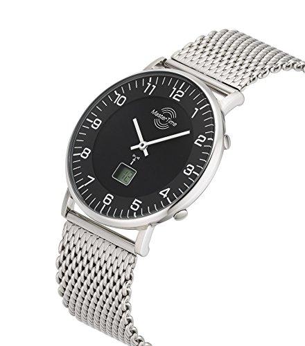 Master Time Funk Quarz Herren Uhr Analog-Digital mit Edelstahl Armband MTGS-10557-22M - 2