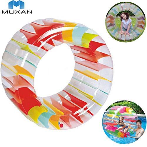 MUXAN Zorbing-Rad , Aufblasbares Kinder-Laufrad 90cm Schwimmen Pool Float Ball Rollendes Lauf-Rad zum Aufblasen, Outdoor-Spielzeug