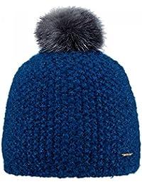 c5024b440309 Barts-Bonnet Pompon Imitation Fourrure Bleu Marine Enfant Fille 3 au 10 Ans