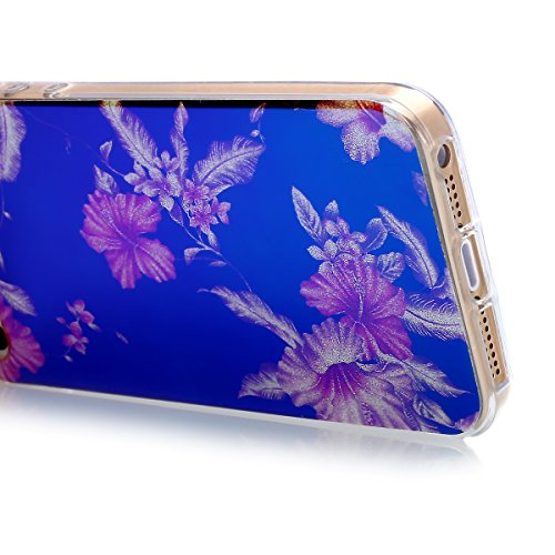 iPhone 8 Plus Hülle,iPhone 7 Plus Hülle,Schutzhülle iPhone 8 / iPhone 7 Plus Silikon Hülle,ikasus® TPU Silikon Schutzhülle Case Hülle für iPhone 8 Plus / 7 Plus,Rosen Blumen Muster Kristall Bling Glän Azaleen