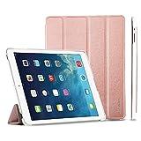 EasyAcc GOLD iPad 4 Hülle Schutzhülle Etui Tasche für Apple iPad 2/3/4 Smart Case Cover mit eingebautem Magnet für Einschlaf/Aufwach (Rose gold)