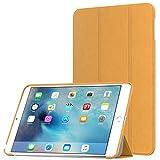 MoKo Hülle für iPad Mini 4 - Ultra Slim Lightweight Schutzhülle Smart Cover mit Auto Schlaf/Wach Funktion und Standfunktion für Apple iPad Mini 4 7.9 Zoll IOS 2015 Genaration Tablet, FM Gelb