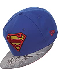 8084d03986dc Superman DC Comics Bleu   Rouge   Jaune Vizasketch New Era 59Fifty Adapté  le Chapeau Casquette