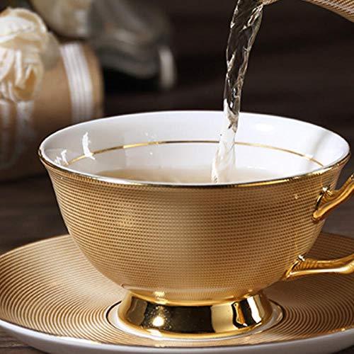 mytxfh Kaffeetassen Gold Bone Kaffeeservice Britisches Porzellan Teeservice Keramiktopf...