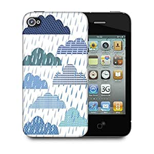 Snoogg Rain Fall Designer Protective Phone Back Case Cover For Apple Iphone 4