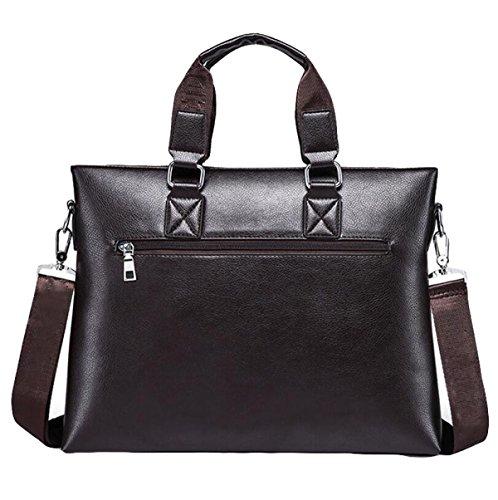 Beiläufige Art Und Weisemannhandtaschen-Geschäftshandtaschen-Schulterbeutel Kurierbeutel-Computer-Aktenkoffer Brown