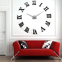 c671465be56e Yosoo NUEVA moderna ultra silencioso Dígito de bricolaje grande reloj de  pared Espejo moderno 3D Etiqueta