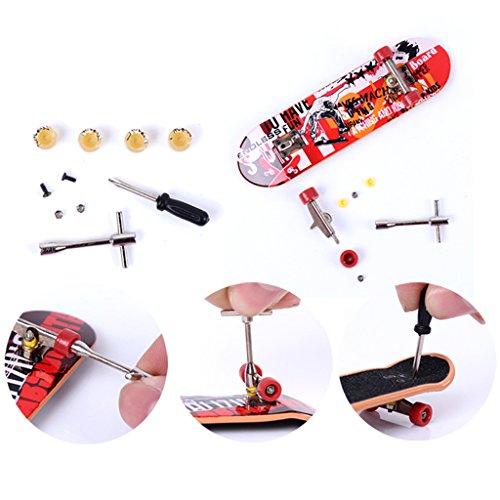 Conjunto de Mini Juguetes de Patin Monopatin Skate Tablero del Dedo