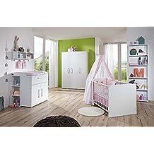 babyzimmer in wei kleiderschrank b 130 cm wickelkommode b - Babyzimmer Mdchen