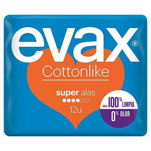 Evax Cottonlike Super Compresas Alas - 12 unidades