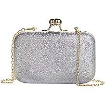 51c60b9e7b MANUKA Clutch Donna Cerimonia, Pochette Donna da Sera Borsetta da Sera  Elegante Mini Pelle Bling