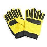 BB Sports Kinder/Jugendliche Basic Fußball Torwart/Spieler Handschuhe (Youths (9-14 Jahre)) (Gelb/Schwarz)