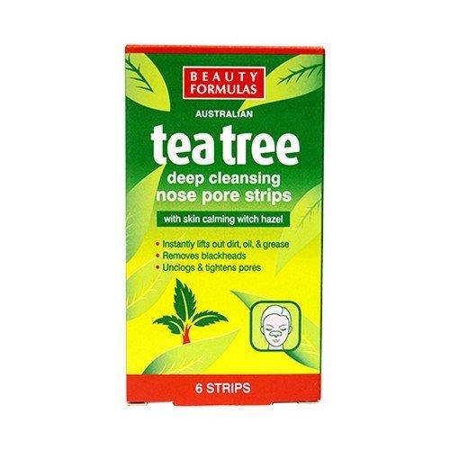 Beauty Formulas Australian tea tree deep cleansing nose pore strips - 6 strips by Beauty Formulas -