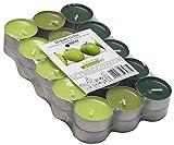 30 farbig sortierte Duft - Teelichte, 4 Std Brennd., Duft: Grüner Apfel, Markenware von Müller Kerzen