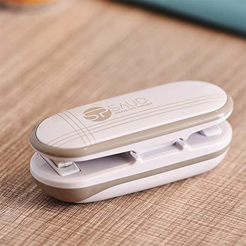 SP SAUCE Mini Folienschweißgerät Handlicher Tüten Verschweißer, batteriebetrieben 2 in 1 Tüten luftdicht Verschließen