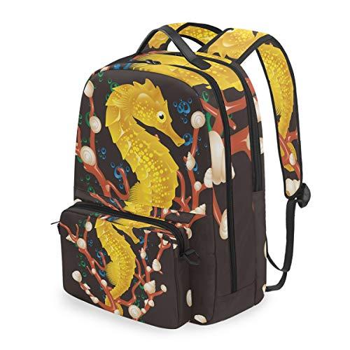 pferdchen-Rucksack abnehmbare Schultertasche Schultasche Computertasche Umhängetasche Daypack für Kinder Jungen Mädchen ()