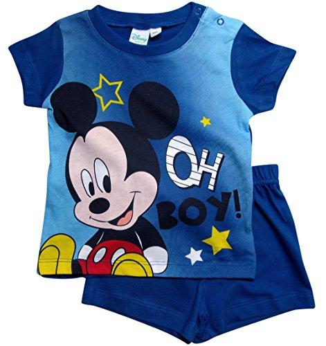 Mickey Mouse Kollektion 2018 Schlafanzug 68 74 80 86 92 Jungen Shorty Pyjama Shortie Disney Maus (Blau, 68 - 74)