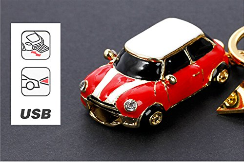 Zuber Clé ® fantaisie Mini Cooper Rouge Doré Clé Flash USB Pen Drive Memory Stick Cadeau UK