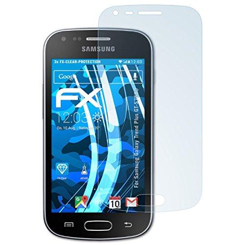 atFoliX Displayschutzfolie für Samsung Galaxy Trend Plus (GT-S7580) Schutzfolie - 3 x FX-Clear kristallklare Folie (Samsung Wireless Link)