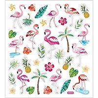 Stickers Flamingos , sheet 15x16,5 cm, approx. 37 pc, flamingo, 1sheet
