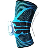 BRG315 Sports Knee Basketball Running Soccer Summer Professional Jauges Hommes Et Femmes Alpinisme Cyclisme Cyclisme Forme 2 Pack , Blue , M