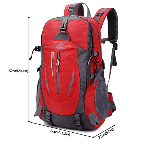 Imagen de huntvp  de alpinismo  deportiva gran  impermeable 40l para las actividades aire libre, senderismo, caza ,viajar, color rojo alternativa