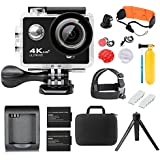 IGANK 4K Action Camera,Full HD Wifi Waterproof Sports Camera With SONY Sensor,Charger And 2 Pcs Rechargeable Batteries Carrying Case Include Water Sports Accessories