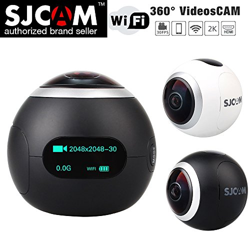 Microware New Sjcam Sj360 Degree New 0.96 Inch Wifi 2k Action Helmet Camera 220 Degree Wide Angle Novatek 96660 12mp Cycle Sport Camcorder Black