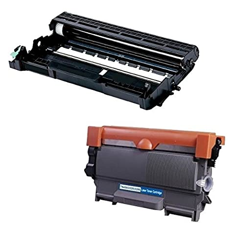DR2200 Kit Tambour & TN2220 Cartouche de Toner compatible pour Brother DCP-7055, DCP-7055W, DCP-7057, DCP-7060D, DCP-7065DN, DCP-7070DW, HL-2130, HL-2132, HL-2135W, HL-2240, HL-2240D, HL-2250DN, HL-2270DW, MFC-7360N, MFC-7460DN, MFC-7460N, MFC-7860DW, FAX-2840, FAX-2845, FAX-2940E