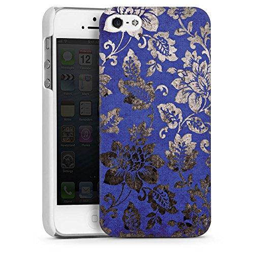 Apple iPhone 4 Housse Étui Silicone Coque Protection Ornement Fleurs Fleurs CasDur blanc