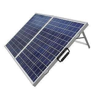 Eco de Worthy Panneau solaire, 12V, polycristallin, pour Photovoltaïque, portable, pour camping-car/bateau/Kits de Chargeur de batterie 100W