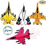 FunBlast Pull Back Airplane Toy Set - Die Cast Metal Military Fighter Jet