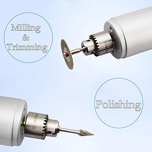 KKmoon Multi-Funktions Professionelle Elektrische Schleifen Set Regulierung der Geschwindigkeit Mini Drill Grinder Handwerkzeug zum Fräsen Polieren Bohren schneiden-Gravur-Kit - 4
