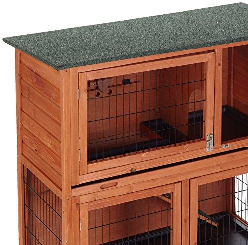 Bunny Business Stall für Kaninchen / Meerschweinchen, 2Ebenen, mit Auslauf - 3