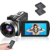 Videocamera Videocamere Full HD 1080P 30FPS 24.0MP Zoom digitale 18X Fotocamera...