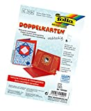 Folia 150520 - Doppelkarten, ca. 10,5 x 15 cm, je 5 Karten (220 g/qm), Kuverts und Einlagen, hochrot
