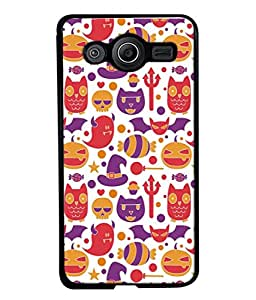 Printvisa Designer Back Case Cover for Samsung Galaxy Core 2 G355H :: Samsung Galaxy Core Ii :: Samsung Galaxy Core 2 Dual (Flowers Candies Hats Lollipops Stars)