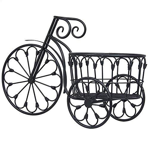 XM HJ Fahrrad-Schmiedeeisen-Blumen-Standplatz-Innentisch-Spitzenbetriebsstand-Blumen-Stand-Speicher Rack,Black (Fahrrad Folding Rack)
