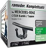 Rameder Komplettsatz, Anhängerkupplung Starr + 13pol Elektrik für Mercedes-Benz CITAN Kombi/Tourer (117925-10862-4)