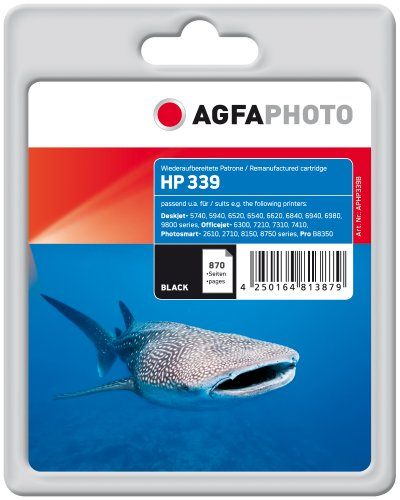 Preisvergleich Produktbild AgfaPhoto Tintenpatrone schwarz kompatibel zu HP339 (C8767EE) geeignet für HP Deskjet 5740/6520/6540