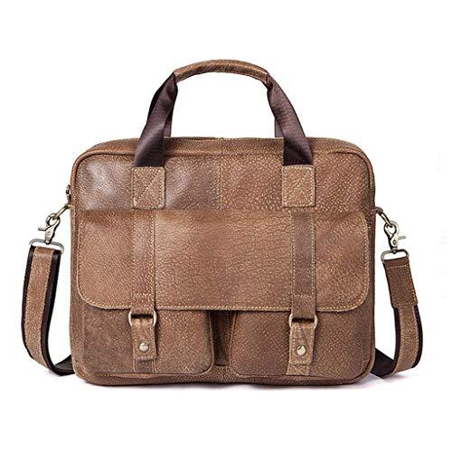 JJSFJH Original Ledertaschen Umhängetasche, 360 ° -Schutzhülle Kompatibel mit 14 Dell HP Acer Lenovo Chromebook Notebook, Laptop-Tasche Schultertasche Büro-Handtaschen für Männer und Frauen (Hp-laptop-ledertasche)