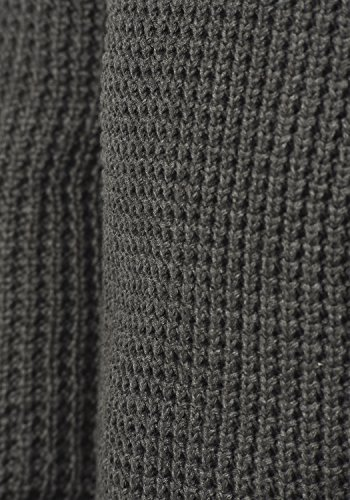 BLEND Wanko Herren Strickpullover Grobstrick mit Schalkragen aus 100% Baumwolle Pewter Mix (70817)